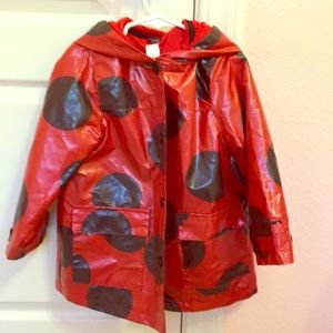 Carter's ladybug rain coat